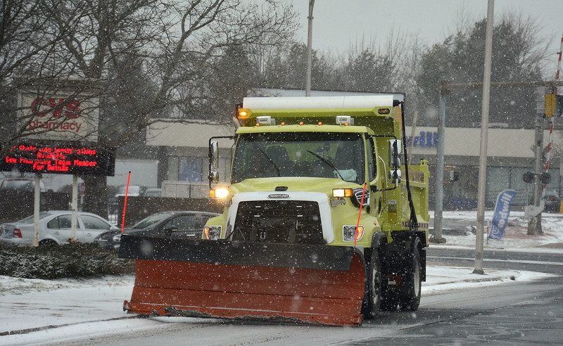 1/23/2016 Mike Orazzi | Staff A City of New Britain snow plow on Chestnut Street in New Britain Saturday.