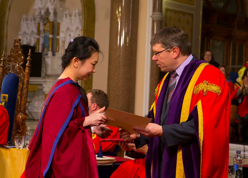 Waterford Institute Of Technology Conferring. Pictured at WIT Waterford Institute Of Technology Conferring is Shiau Pin Tan, Waterford who was conferred a Doctor of Philosophy from Dr. Ruaidhrí Neavyn, President, WIT. Picture: Patrick Browne