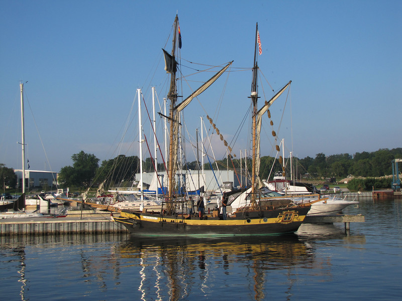 Royaliste is a living history interpretation and reenactment vessel. She is a 68' LOA gaff-rigged, square-tops'l ketch refit to specifications of an 18th-century dispatch gunboat/bomb ketch.