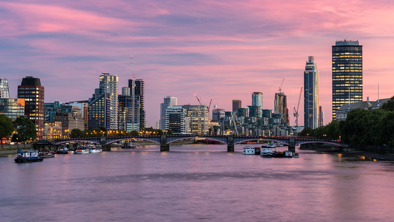 Sunset on the River Thames at Lambeth