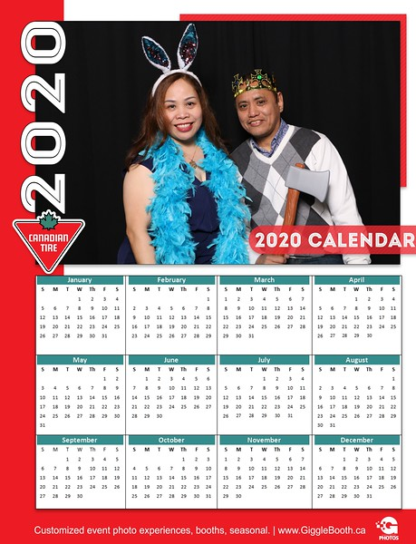 Canadian Tire 2020 Calendar