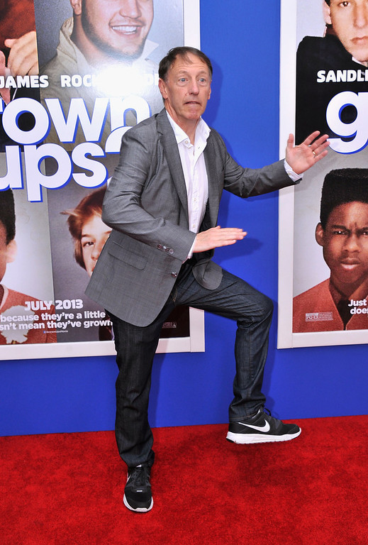 """. Director Dennis Dugan attends the \""""Grown Ups 2\"""" New York Premiere at AMC Lincoln Square Theater on July 10, 2013 in New York City.  (Photo by Stephen Lovekin/Getty Images)"""