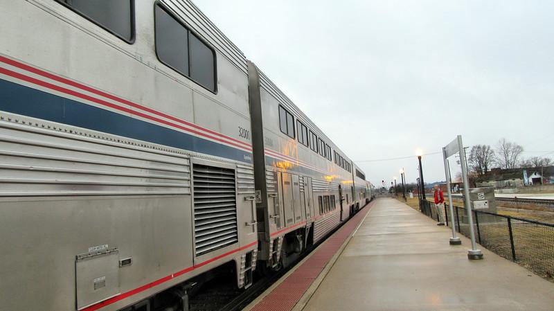 Amtrak's California Zephyr in Illinois and Iowa