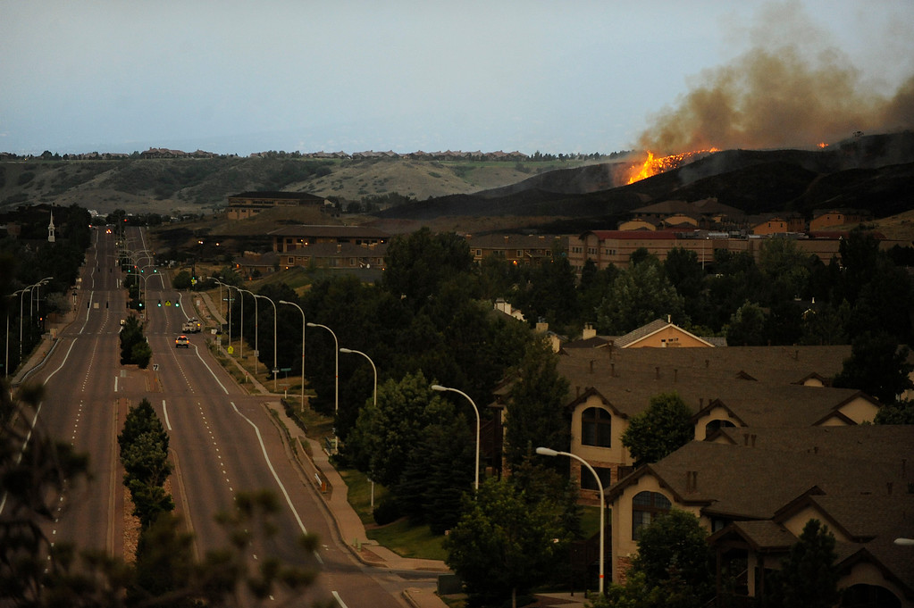 . An entire neighborhood burns near the foothills of Colorado Springs as the fire gets closer to the main road. Helen H. Richardson, The Denver Post