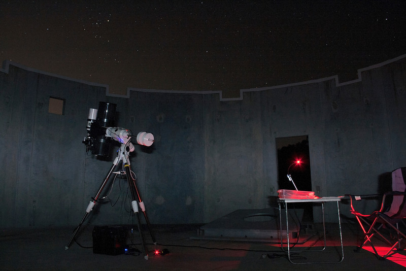 PowerNewt Astrophotography under Taurus at Perth Observatory - 1/3/2014