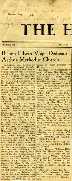 ARC013.  Arthur Methodist Church dedication news clipping – .jpg