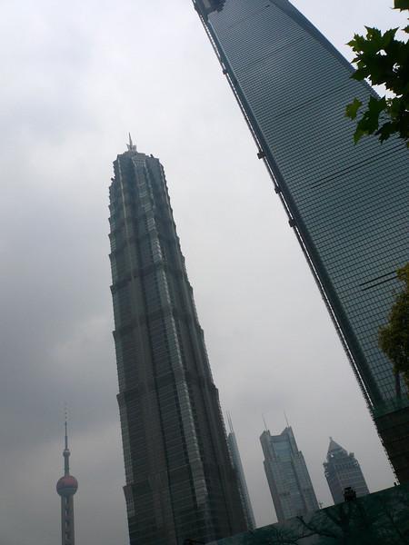 Jin Mao Tower and Shangahi World Trade Center, June 2007
