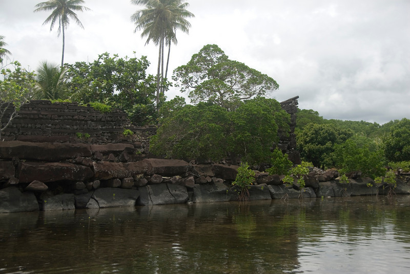 Nan Modal from Water in Pohnpei, Micronesia