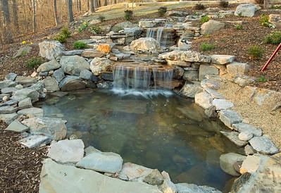Backyard Waterfall--Lakeside Landscape