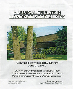 Msgr. Albert Kirk and Church of the Holy Spirit, 16 Years
