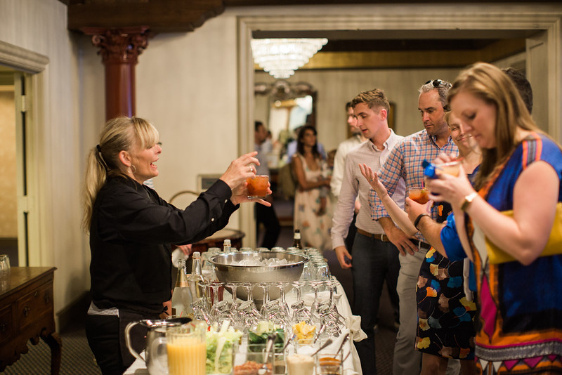 Bloody Mary bar at 1840s Plaza wedding. For more images from Baltimore's best wedding photographer Jalapeno Photography, see http://www.jalapenophotography.com