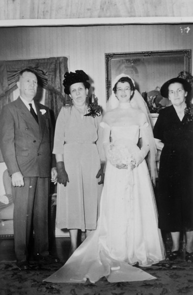 Rip and Maria's Wedding September 9, 1950 George Jacob, Bertha Seiffert Jacob, Maria Jacob Smock, Agnes Polka Smock