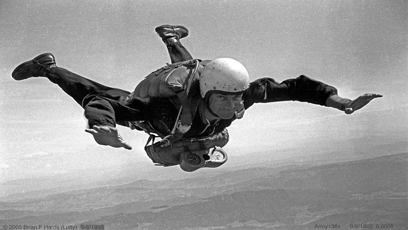 Lofty's sky diving adventures. Still living the dream