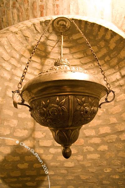 Closeup look at the old lamp