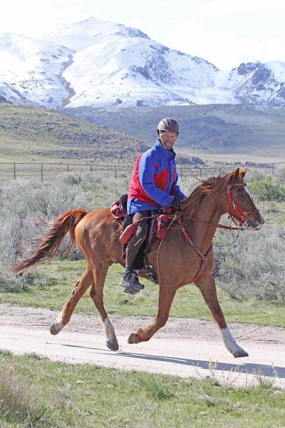 Antelope Island endurance ride in Utah. AERC's winningest rider, Christoph Schork
