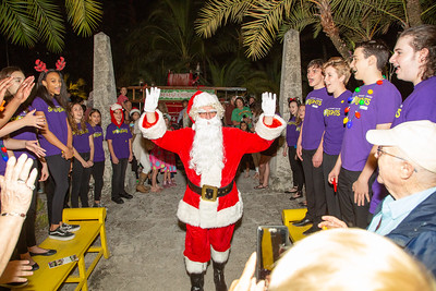 Santa arrives to the Holiday Soiree 2019