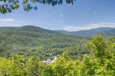 View of the town and Catskill Mountains from TanBark Trail, Phoenicia New York