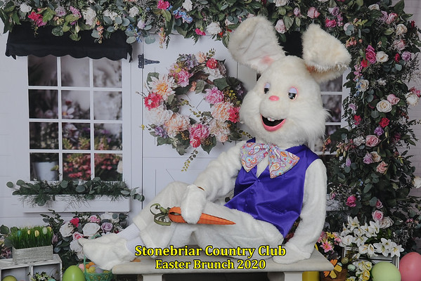 Stonebriar Country Club Easter Bunny in August