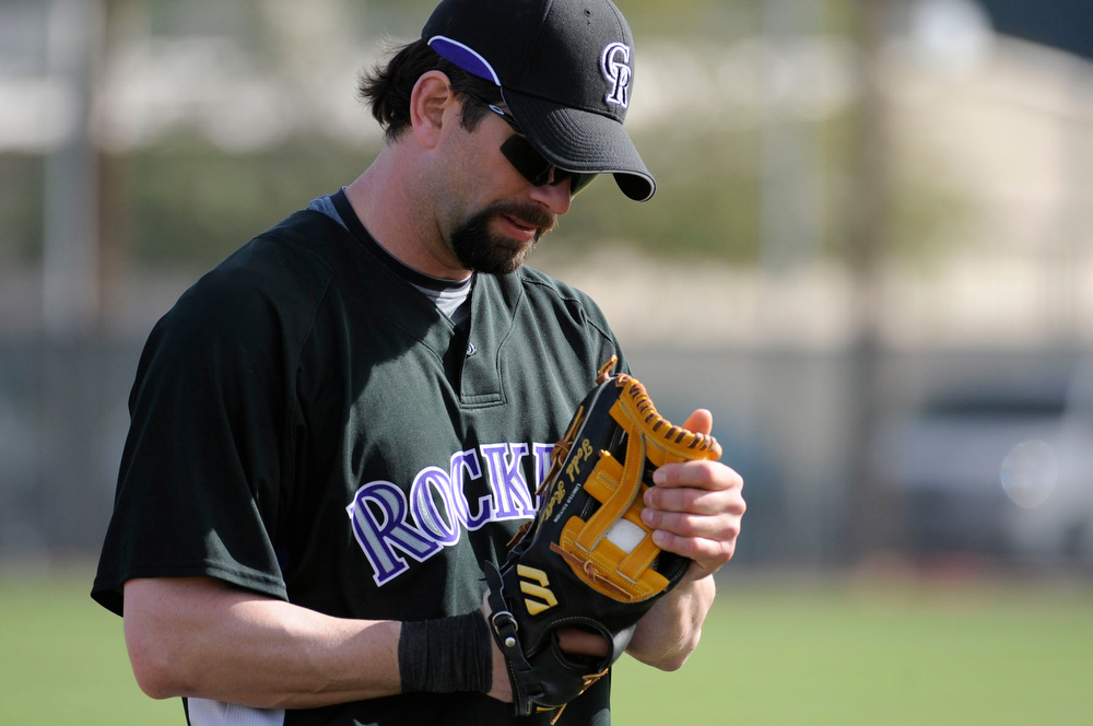 . The defending National League Champions Colorado Rockies began the the 2008 season with full squad workouts in Tucson. John Leyba/ The Denver Post