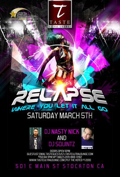 Relapse @ Taste Ultra Lounge 3.5.11