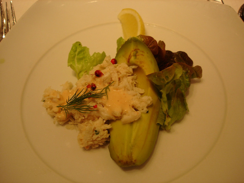 Chilled SF crab louis with avocado