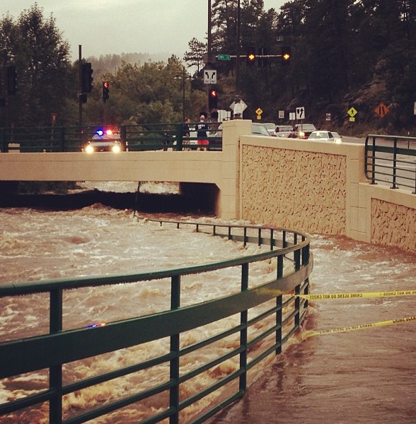. Downtown Evergreen Flooding. Photo by Unknown