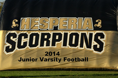 Hesperia 2014 JV Football Game Images