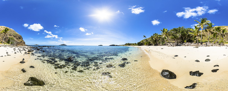Palm Trees at Paradise Beach - Yasawa - Fiji Islands