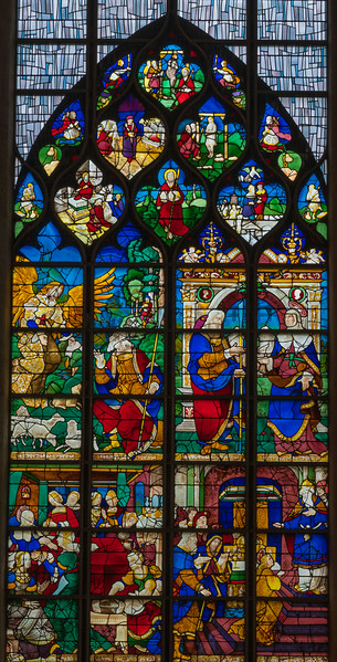 Rouen, Jeanne d'Arc Church - The Saint Anne Window