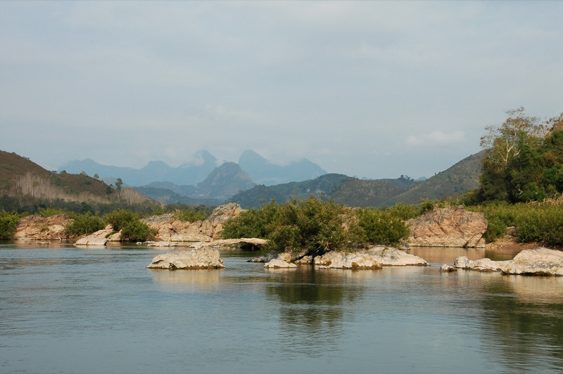 Limestone at the Nam Ou River - Nong Khiaw, Laos