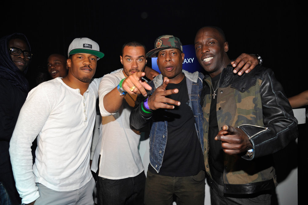 . (L-R) Actors Nate Parker, Jesse Williams, Talib Kweli and Michael K. Williams attend as the Samsung Galaxy presents Prince and A Tribe Called Quest at SXSW on March 16, 2013 in Austin, Texas.  (Photo by John Sciulli/Getty Images for Samsung)