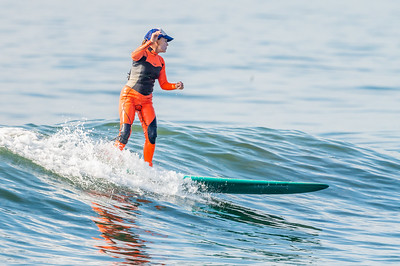 Margie Osswald Surfing Long Beach 10-8-21