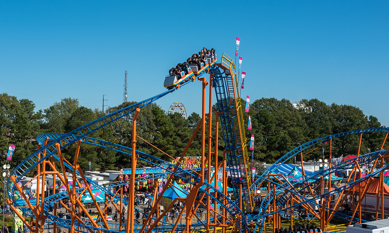 Rollercoaster at NC State Fair 2016