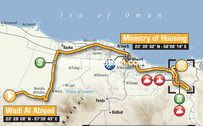 Tour of Oman Stage 4: Wadi Al Abiyad > Ministry of Housing, 173kms