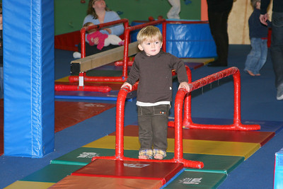 Zack's 3rd birthday party -- Little Gym
