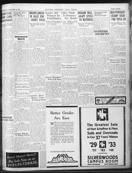 Daily Trojan, Vol. 22, No. 73, January 14, 1931