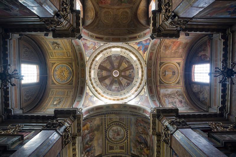 Ceiling of San Rocco church, Rome