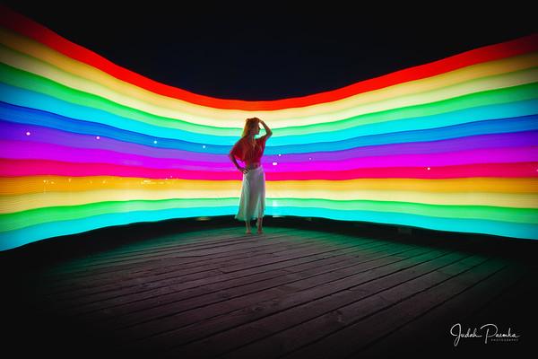 Gay Pride Week Shoot - Marie Brooks (Pixel Stick)  Bay Bridge, Victoria BC