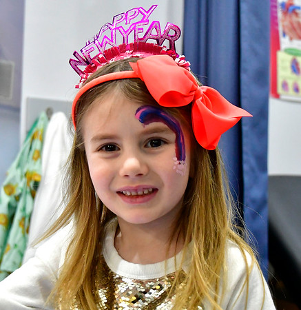 12/31/2019 MIke Orazzi | StaffrElaina Matte,6, during the Imagine Nations New Years celebration on Tuesday.