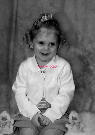Baylee's Easter Portraits & TWO YR Portraits