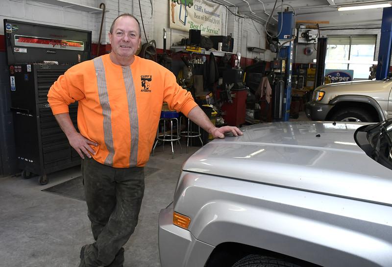 5/8/2018 Mike Orazzi | Staff Cliff Jones of Cliff's Auto in Terryville.
