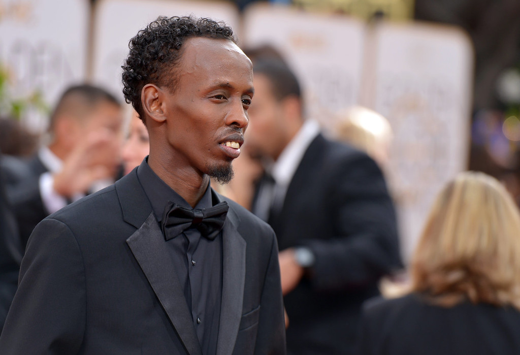 . Barkhad Abdi arrives at the 71st annual Golden Globe Awards at the Beverly Hilton Hotel on Sunday, Jan. 12, 2014, in Beverly Hills, Calif. (Photo by John Shearer/Invision/AP)