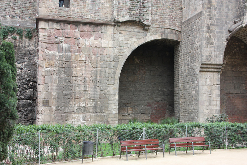 Old remaining sections of the ancient Roman walls.