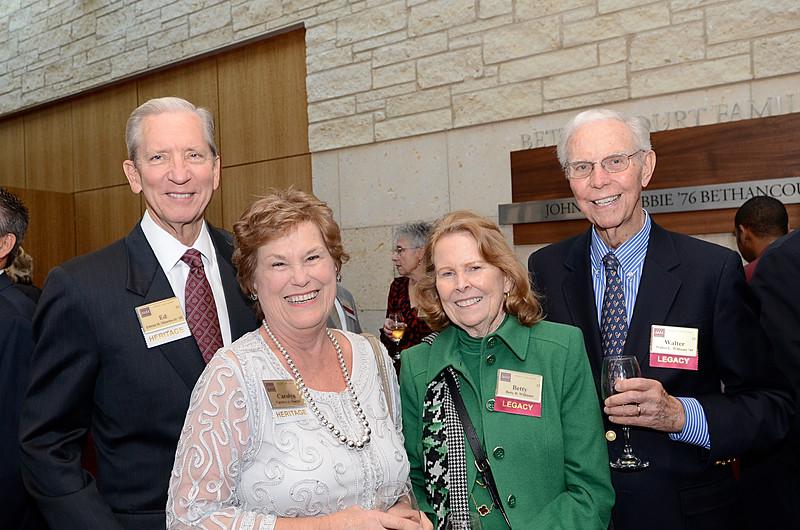 Edwin Moerbe Jr '61, Carolyn Moerbe, Betty Williams, Walter Williams '49