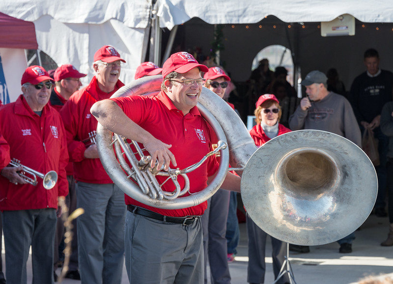 Jon did triple duty as guest director, emcee and the (entire) Sousaphone section