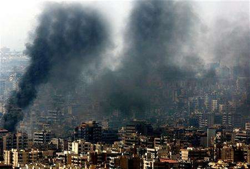 . A Reuters photograph of smoke rising from buildings in Beirut has been withdrawn after coming under attack by American web logs. The blogs accused Reuters of distorting the photograph to include more smoke and damage.  The photograph showed two very heavy plumes of black smoke billowing from buildings in Beirut after an Air Force attack on the Lebanese capital. Reuters has since withdrawn the photograph from its website, along a message admitting that the image was distorted, and an apology to editors.  SOURCE: http://www.ynetnews.com