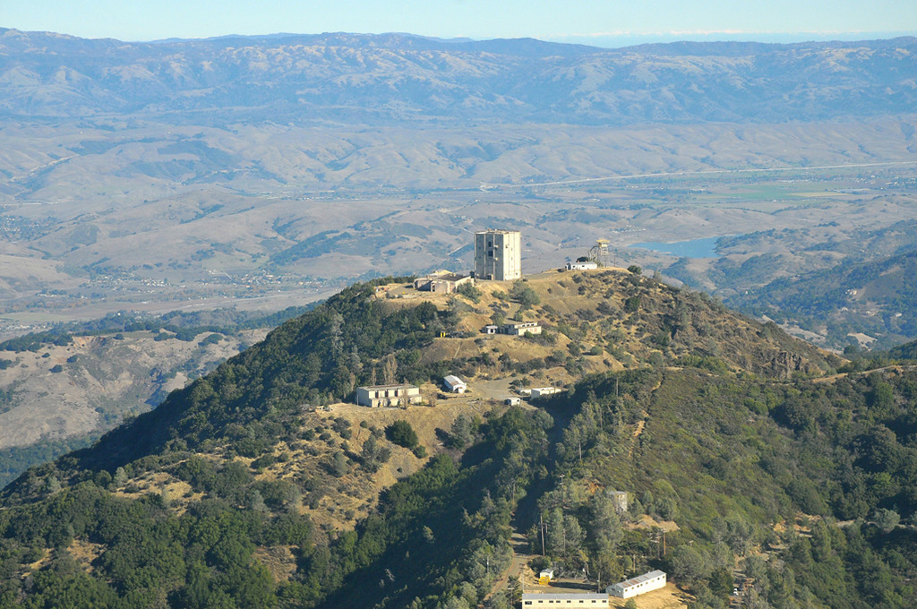 . 2010: The old radar tower from the former Almaden Air Force Station atop Mount Umunhum. (Frank Sweeney)