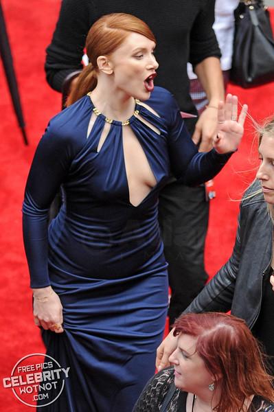 Bryce Dallas Howard In A Revealing Keyhole Dress At Premiere, LA