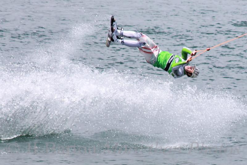 Wake Boarding on the New Danube Acrobatics in Vienna
