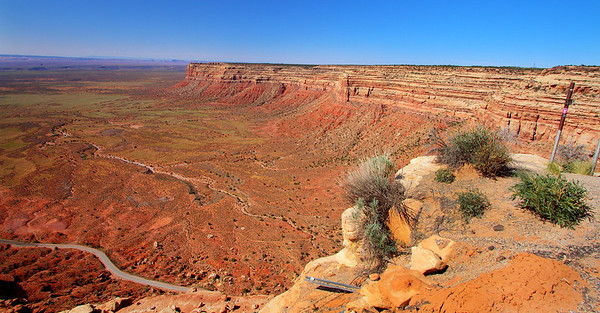The Moki Dugway switchback road, Utah